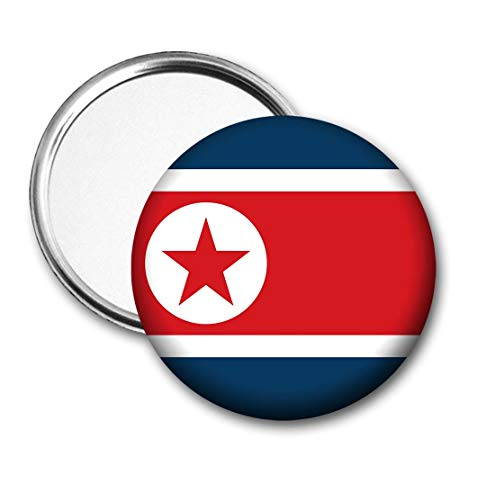Korea (Noord) Vlag Pocket Spiegel voor Handtas - Handtas - Cadeau - Verjaardag - Kerstmis - Stocking Filler - Secret Santa