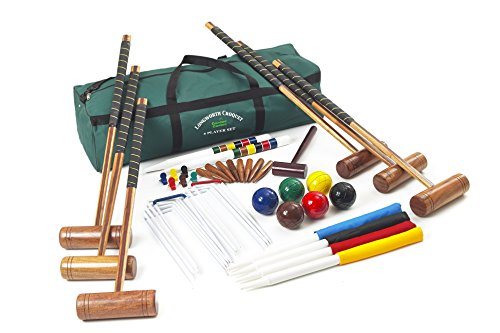 Longworth Croquet Set   Garden Games - Outdoor Croquet Set for Families, Friends and Adults   9-Wicket, 6-Player Set