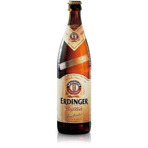 4. Erdinger Weissber – Cerveza alemana premium de 500 ml (pack de 12 unidades)