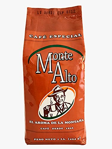 Monte Alto special Coffee, premium arabic coffee from the Jarabacoa Mountains in Dominican Republic, The best coffee in the caribbean, Ground Coffee, Premium medium roast ground coffee