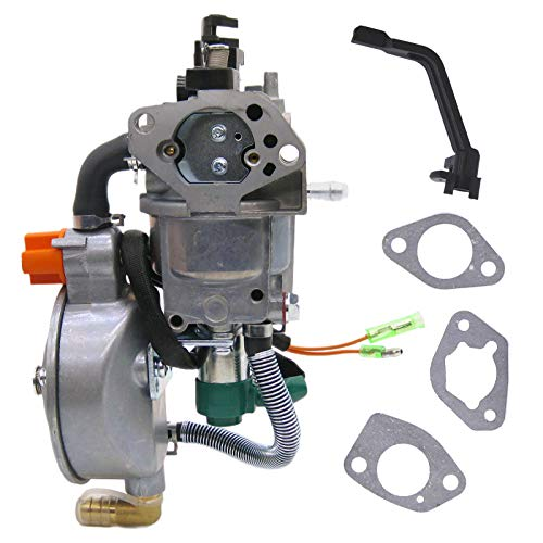 NIMTEK Dual Fuel Carburetor LPG Conversion kit for Generator 4.5-5.5KW GX390 188F Carburetor