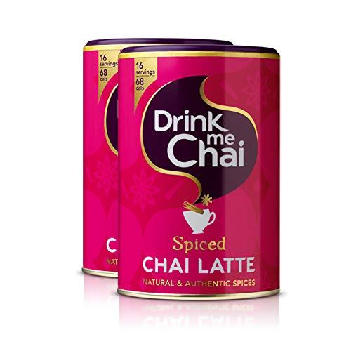 Drink me Chai | Te Chai Latte Spiced | Te pakistani instantáneo | Pack de 2 x 250 g | Total 500 g