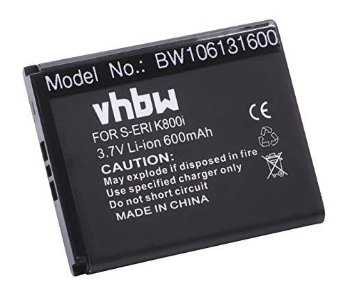 vhbw Akku passend für Sony-Ericsson W300i, W302, W395, W580i, W595, W610i, W660i, W705, W850i Handy Telefon ersetzt BST-33 (Li-Ion, 900mAh, 3.7V)