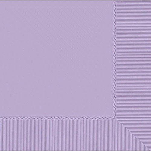 amscan 2-Ply Lavender Luncheon Napkins, 50 Ct.   Party Tableware, 6.5 x 6.5