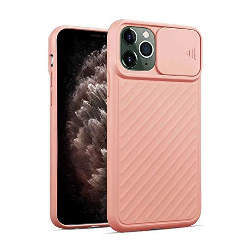 LIMITED Funda Protectora para cámara con Tapa para iPhone 11 11Pro X XR XS MAX 7 6 6S 8 Plus Funda Trasera con Textura de Silicona Suave (Rosado,For iPhone XS)