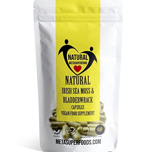 Musgo marino y fucus 60 Cápsulas (3600 mg) de alta potencia | Cosechado salvaje | Vegano | Apoyo inmunológico | Orgánico | Sin carpetas, sin rellenos | Dr. Sebi