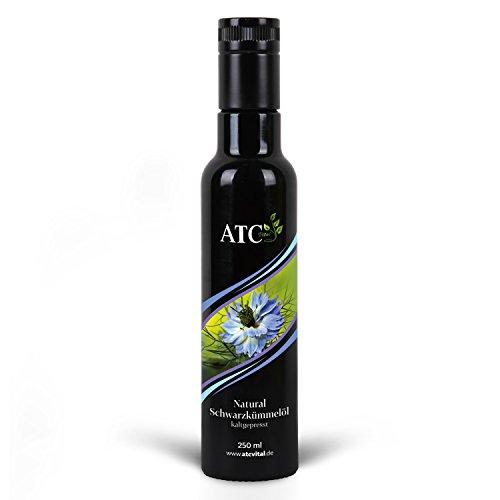 ATC Vital | Schwarzkümmelöl kaltgepresst und gefiltert, reines Öl aus Nigella Sativa Samen, 250ml