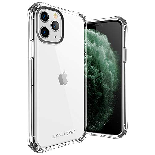 Ballistic Transparent Clear iPhone 11 Pro Case, [Anti-Yellowing] Heavy Duty Clear Hard Protective Case Shockproof Protective Phone Cases Hard Plastic Cover for iPhone 11 Pro 5.8'' with Bumper, Clear