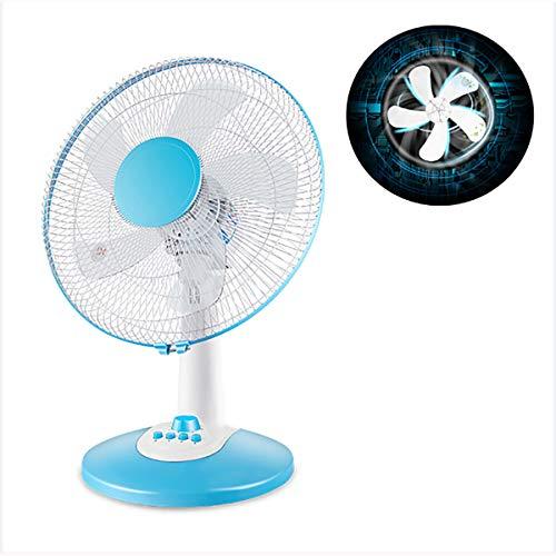 XER Escritorio Escritorio Ventilador Ventilador Ventilador oscilante portátil con 3 configuraciones de Velocidad de 60 vatios Ventilador de refrigeración adecuados para el hogar y la Oficina