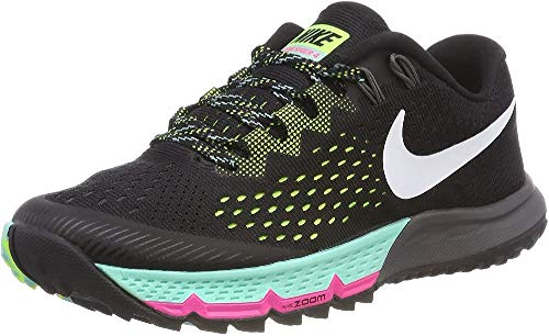Nike W Air Zoom Terra Kiger 4, Scarpe Running Uomo, Nero (Noir/Vert Volt/Hyper Turquoise/Blanc), 38 EU