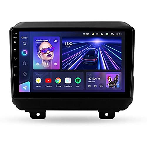 9 'Android 10.0 2 Din Radio De Navegación Para Jeep Wrangler 4 JL 2018 2019 Soporte Bluetooth USB WIFI Pantalla Táctil Reproductor De Video Multimedia Navegación GPS Autoradio(Color:WiFi 2G+32G)