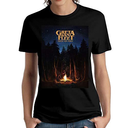 Price comparison product image JeffryG Women's Greta Van Fleet Short Sleeve T Shirt Black S