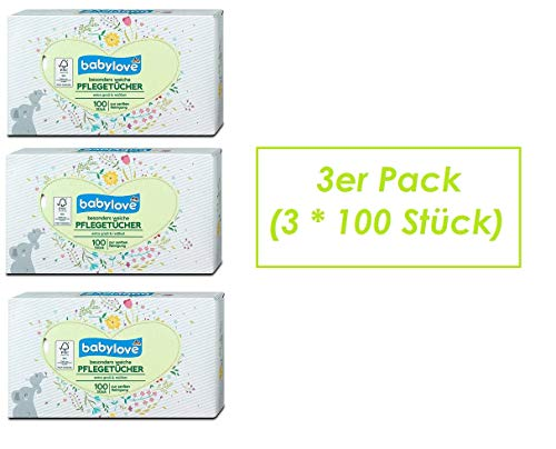 Baby-Pflegetücher, 3er Pack (3 x 100 St)