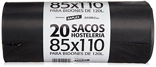 Saplex - Sacos Hostelería - 85x110 para bidones de 120 l - 20 unidades
