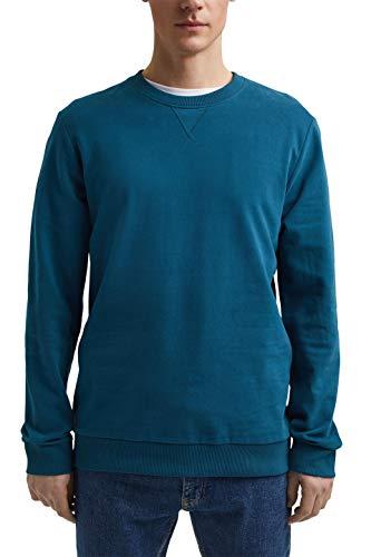 edc by ESPRIT Herren 021CC2J303 Sweatshirt, 450/PETROL Blue, XXL