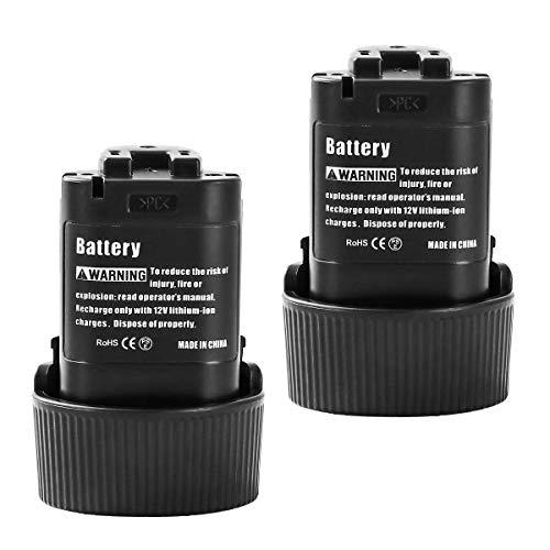 Topbatt 2Piezas BL1013 10.8V 3.0Ah para Batería de repuesto BL1014 194550-6 194551-4 LCT203W CL100DW DF330D ML100W TD090D taladro inalámbrico Herramientas eléctricas