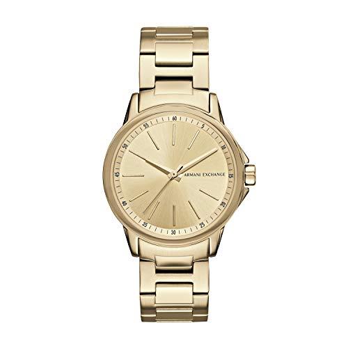 Armani Exchange Damen Analog Quarz Uhr mit Edelstahl Armband AX4346