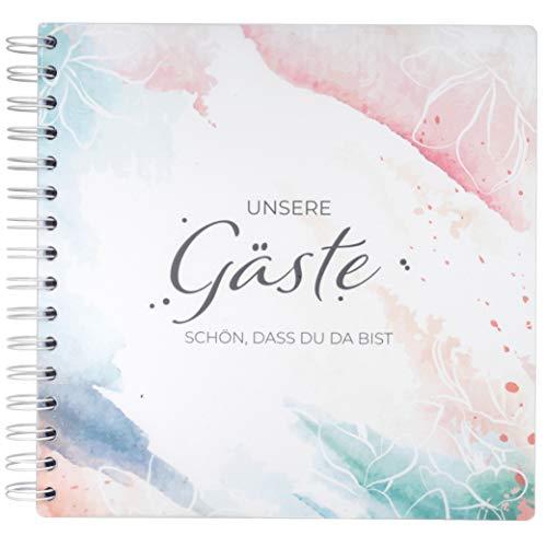 WeddingTree Gästebuch Hochzeit Elegantes Hochzeit Gästebuch – Edel als Gästebuch Silberhochzeit...