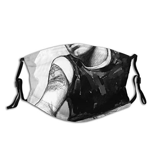 Emine-M Unisex-Gesichtsmaske, winddicht, wiederverwendbar, atmungsaktiv, Bandanas für Männer, Frauen, Kinder, Outdoor-Aktivitäten, rosa