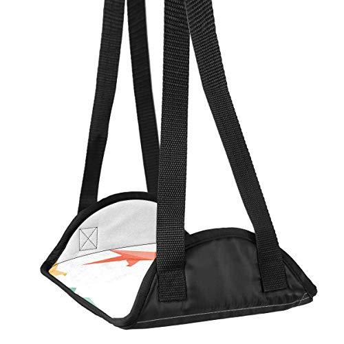 Hamaca de pie de avión de escritorio de pie hamaca de viaje reposapiés accesorios para el hogar descanso de piernas de origami Birds-01 de viaje reposapiés