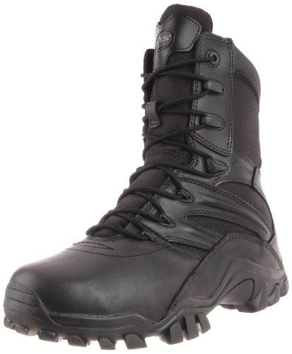 Bates Men's Delta Side Zip 8 Inch Uniform Boot, Black, 9 M US