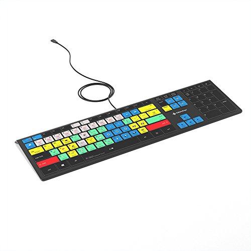 Adobe Premiere Pro CC Keyboard | Backlit PC Windows Edition | Editors Keys Shortcut Keyboard