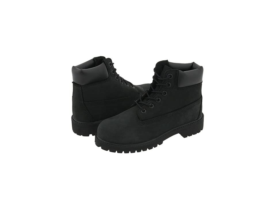 Timberland Kids 6 Premium Waterproof Boot Core (Little Kid) (Black Nubuck) Boys Shoes