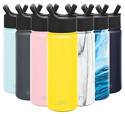 Simple Modern Summit Termo Botella de Agua de Acero Inoxidable con Tapa y Pajita Reutilizable - Botella termica sin BPA Aislada al Vacío Doble Pared para Deporte o Viaje