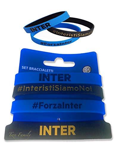 tex family Set 3 Braccialetti Ufficiali Inter e Cartolina Milano È
