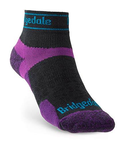 Bridgedale Damen Trail Run Ultralight T2 Merino Performance Knöchel, Anthrazit/Violett, Größe M