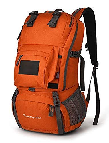 SanQ-Seven Mochila Nevera,40L Mochila de Senderismo al Aire Libre Impermeable Viaje Camping Doble Bolso de Hombro @ Orangered