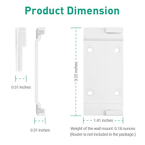 GL.iNet WiFi Router Holder Wall Mount with Screws, Compatible with Convexa GL-B1300 and GL-S1300 Home Wireless Gateway, Networking Device Bracket, Easy to Install (White)