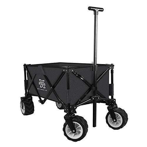 BXL Heavy Duty Collapsible Folding Wagon Garden Beach Cart Utility Wagon for...