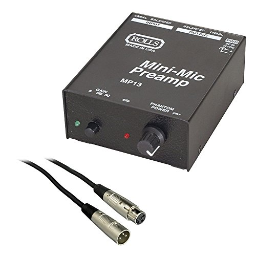 Rolls MP13 Mini Microphone Preamp with SM Series...