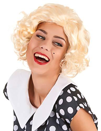 DEGUISE TOI - Perruque Blonde Marilyn Femme - Taille Unique