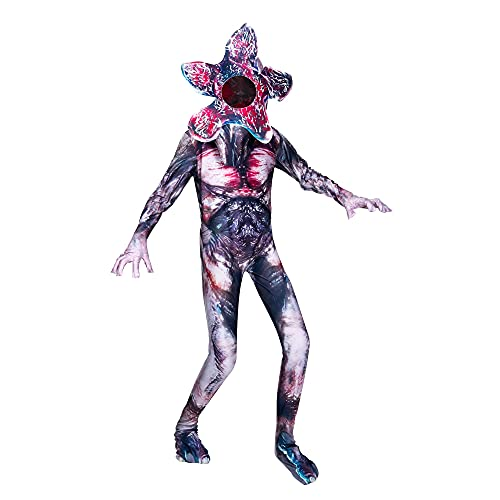 Demogorgon Costume for Kids Halloween Scary Cosplay Flower Monster Jumpsuit Dress Up 5-14 Years