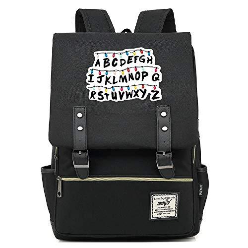 Stranger Things Casual Daypack, all'aperto Oxford College School zaino, si adatta 15'' Tablet portatile, Acqua Resistente 16 pollici. 11 Premere l'immagine della scheda a colori.