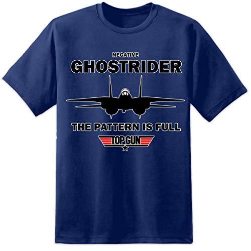 Digital Pharaoh Herren Top Gun Negative Ghostrider Noms T Shirt Maverick Gans Iceman Film Gr. XXL (127/132 cm), marineblau