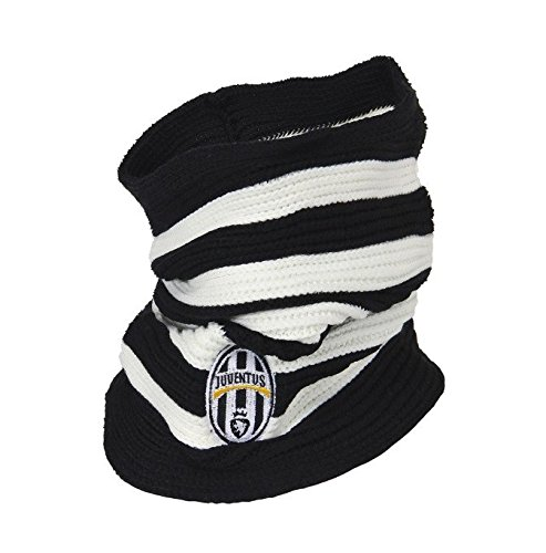 Marcello 55 S.r.l. Sjaal gestreept wit/zwart met Juventus logo geborduurd - officieel Juventus product