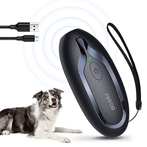 Anti-Barking-Gerät Ultraschall, Handheld Anti Bell Gerät, wiederaufladbare Trainingsgerät Abschreckung, LED-Licht Anti-Bark-Gerät 16,4 Ft Reichweite für Welpen Die meisten Hunde drinnen im Freien