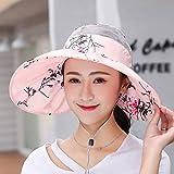 La Mujer Transpirable Verano Sombrero chistera vacia Sol Plegable Dom Sombrero Grande al Aire Libre vacío Top Sun Hat