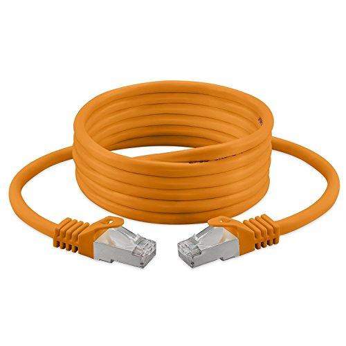 Cavo patch, CAT, 7, S/FTP, PiMF, senza alogeni, 600MHz per streaming/IPTV/lettori multimediali/ricevitori satellitari/server di rete/Desktop PC/Super Fast Ethernet cavo con connettori pin oro