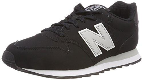 New Balance 500, Scarpe Sportive Uomo, Black/Grey Black/Grey, 42.5 EU