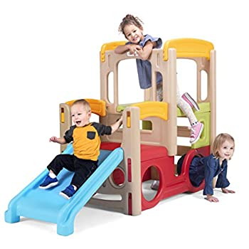 Simplay3 Young Explorers Adventure Climber - Indoor Outdoor Crawl Climb Drive Slide Year-Round Playset for Children
