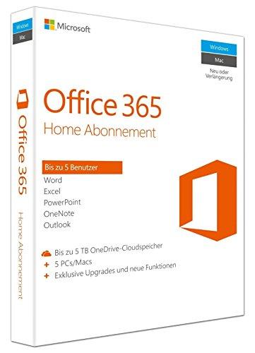 Microsoft Office 365 Home - 5PCs/MACs - multilingual (Account) [Online]