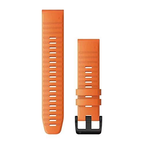 Ember Orange Silikon – Quick Fit – Fenix 6 – 22 mm – fēnix 5/5 Plus