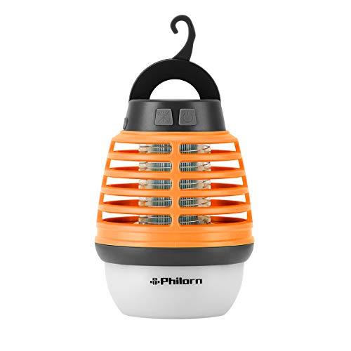 PHILORN Luz Anti Mosquitos Linternas Lámpara de Cámping Linterna LED Lámpara de Bolsillo Luz para Insectos al Aire Libre Lámpara de Mosquito Colector de Insectos con Cable de Carga Cepillo de Limpieza