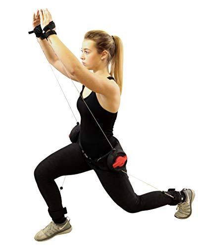 POWRX XBT Fitnessgürtel Trainingsgerät für Ausdauer Schnelligkeit Kraft im Kampfsport Functional Training Fitnesskurs