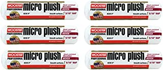 Wooster Brush R235 9 inch Micro Plush 5/16 inch Nap Roller Cover - Pack of 6