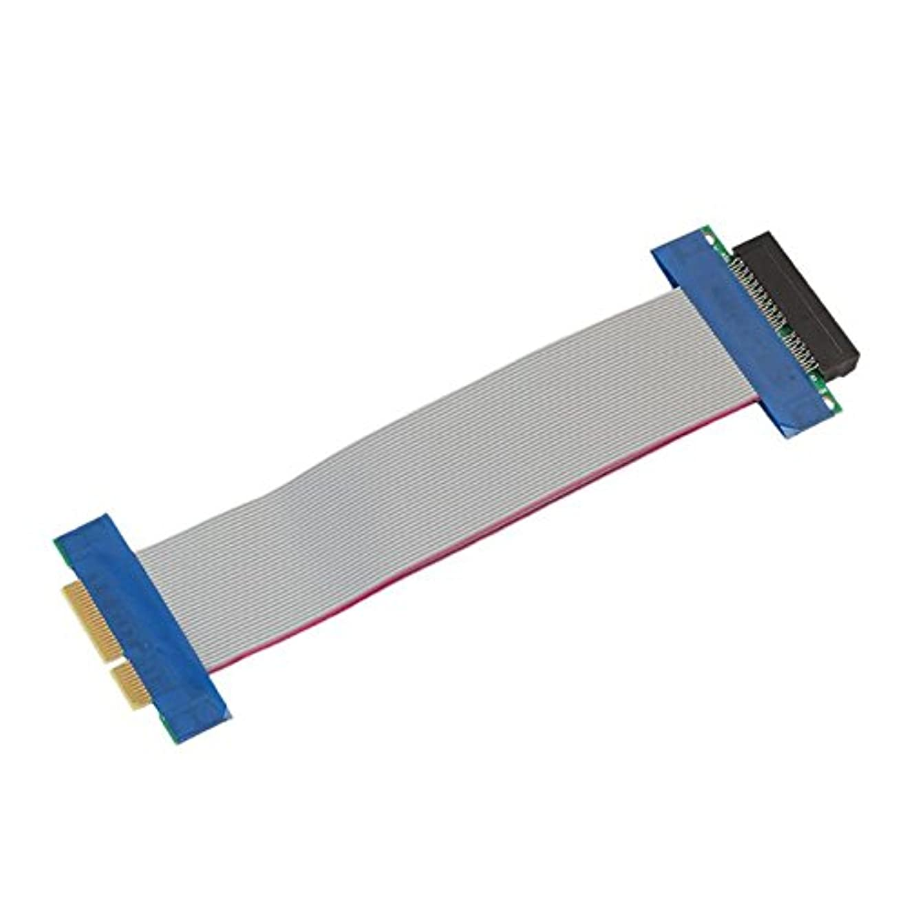 解釈病的消費するPCI - E 4?XライザーカードフレックスリボンエクステンダーアダプタコンバータPCI Express x4スロット拡張子ケーブルfor 1u / 2u